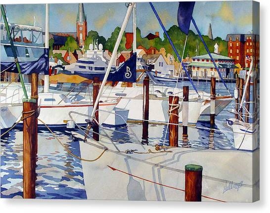 A View From The Pier Canvas Print