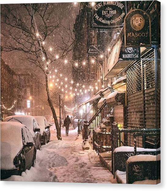 Canvas Print - A View Looking Down 9th Street Tonight by Vivienne Gucwa