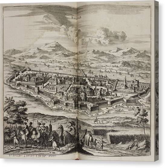 Baghdad Canvas Print - A View Of Baghdad In The 17th Century by British Library
