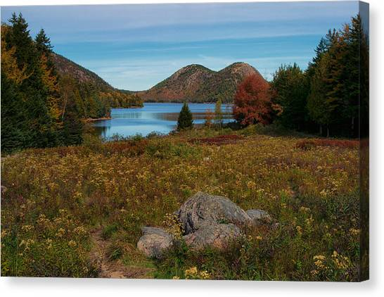 A View Of Jordan Pond Canvas Print