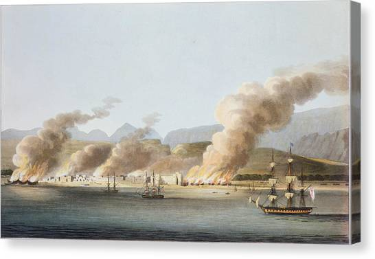 Dhow Canvas Print - A View Of Linga Or Lung, From The Sea by R. Temple