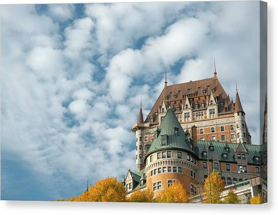 A View Of The Chateau Frontenac, Quebec Canvas Print by Ellen Rooney / Robertharding