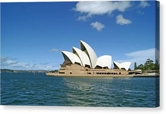 Controversial Canvas Print - A View Of The Sydney Opera House by Anonymous