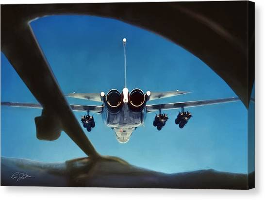 Linebackers Canvas Print - A View To A Kill by Peter Chilelli
