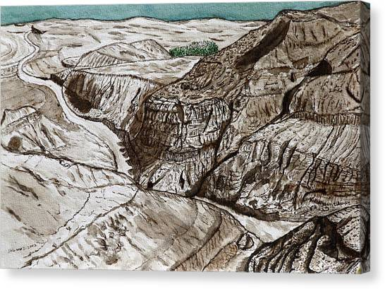 a view to the Dead Sea. Canvas Print