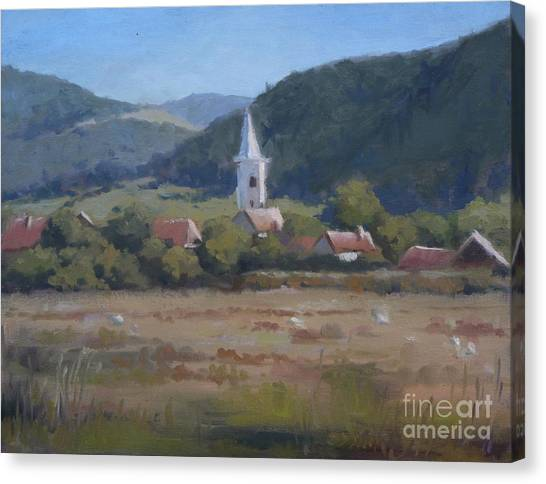A Village In Erdely Canvas Print