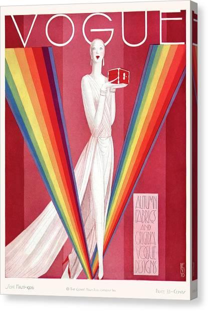 A Vintage Vogue Magazine Cover Of A Mannequin Canvas Print