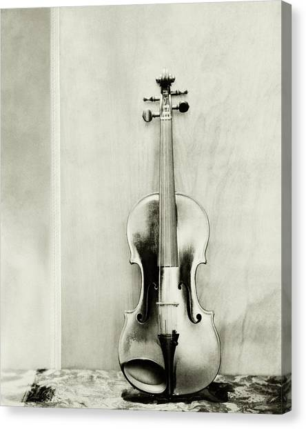 Stringed Instruments Canvas Print - A Violin by Edward Steichen