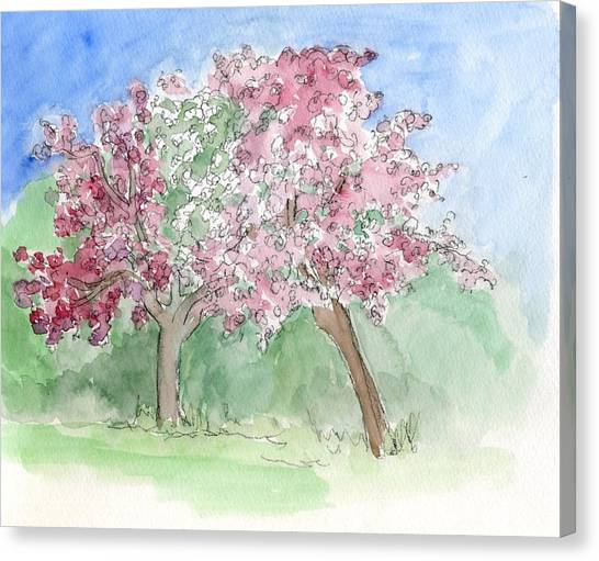 A Vision Of Spring Canvas Print