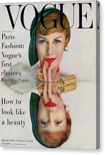 A Vogue Cover Of Mary Jane Russell Canvas Print