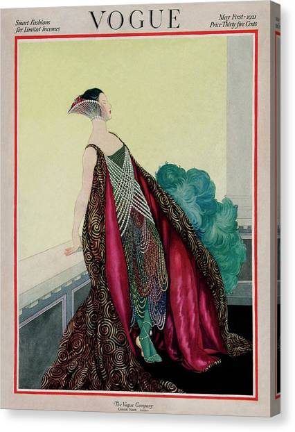 A Vogue Magazine Cover Of A Woman Canvas Print