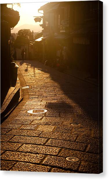 A Walk In Kyoto Canvas Print