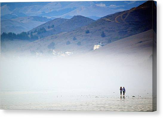 A Walk In The Evening Fog Canvas Print