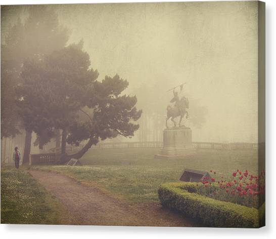 Garden Canvas Print - A Walk In The Fog by Laurie Search