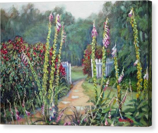 A Walk Into The Garden Canvas Print