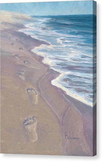 Cape Cod Canvas Print - A Walk On The Beach by Lucie Bilodeau
