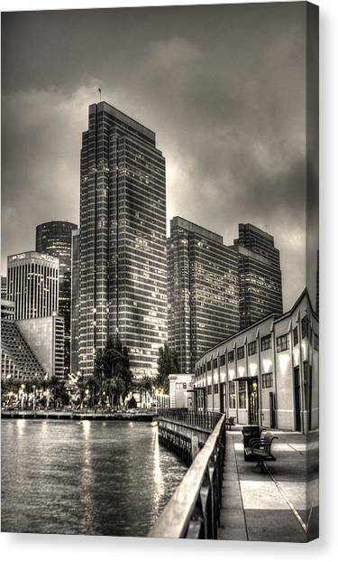 A Walk On The Embarcadero Waterfront Canvas Print