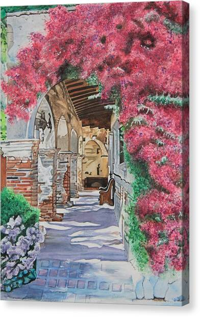 Canvas Print - A Walk Through The Mission by Christine Rivers