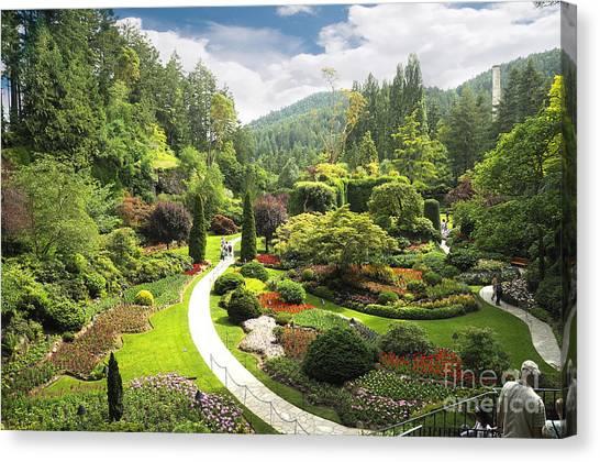 A Walk Through The Paradise Gardens Canvas Print