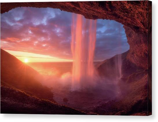 Caves Canvas Print - A Wall Of Flames by Daniel F.