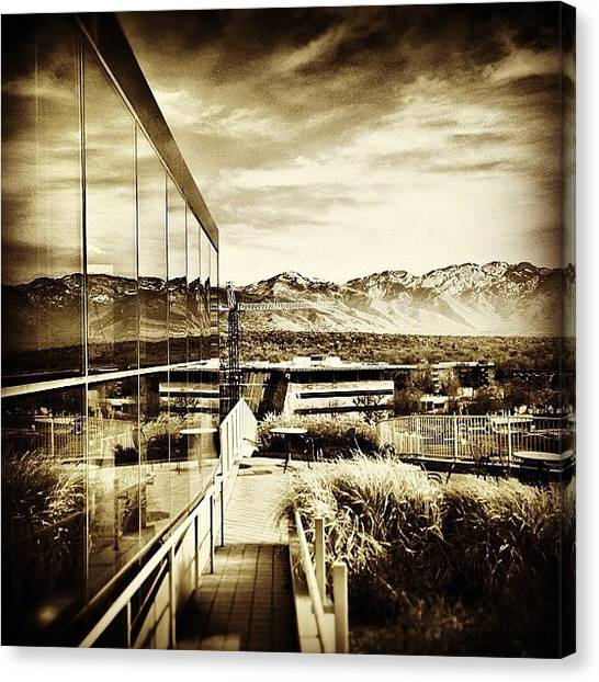 Libraries Canvas Print - A Wasatch Reflection by Clinton Burfitt