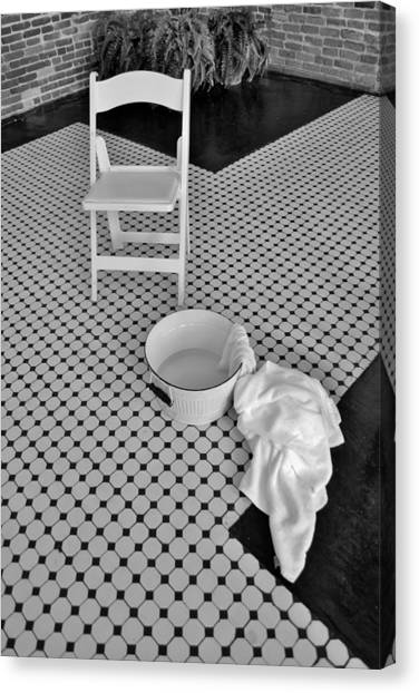 A Washing Of The Feet Canvas Print