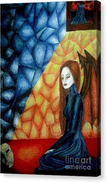 A Watcher's Tears Canvas Print by Coriander  Shea