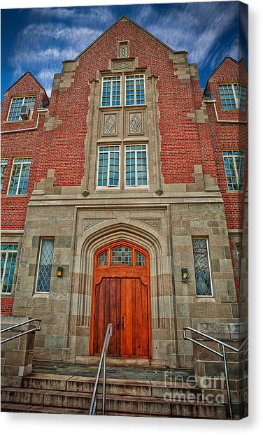 University Of Connecticut Canvas Print - A Welcome Door by Steve Pfaffle
