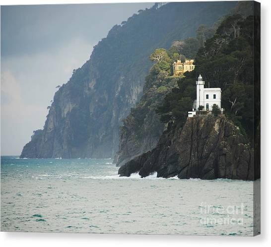 Portofino Canvas Print - A Welcome Light by Mel Steinhauer