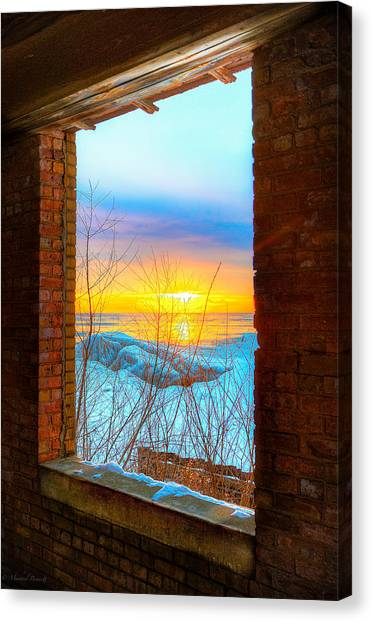 A Window To Lake Michigan  Canvas Print by Michael  Bennett