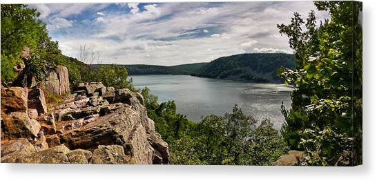 A Windy Day At Devil's Lake Canvas Print