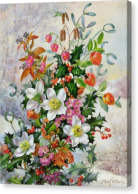 Mistletoe Canvas Print - A Winter Wonderland by Albert Williams