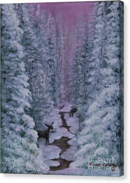 A Winters Journey Canvas Print