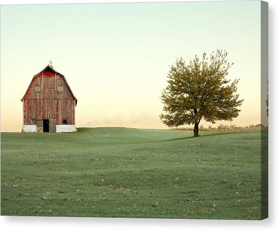 Barns Canvas Print - A Wisconsin Postcard by Todd Klassy