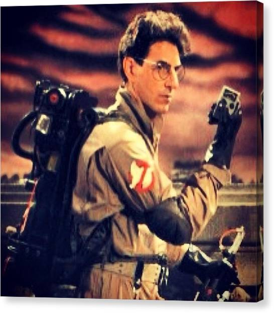 Ghostbusters Canvas Print - A Witty Talent. Harold Ramis, Aka Egon by Kirk Truman