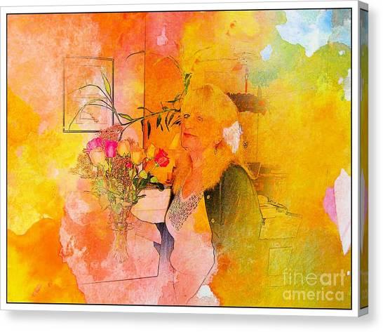 A Woman Thinking Canvas Print