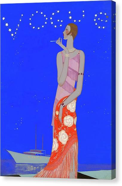 A Woman Wearing A Flapper Dress Canvas Print