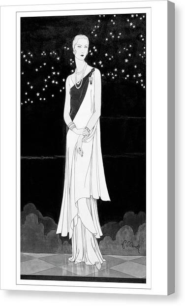 A Woman Wearing Reboux Canvas Print