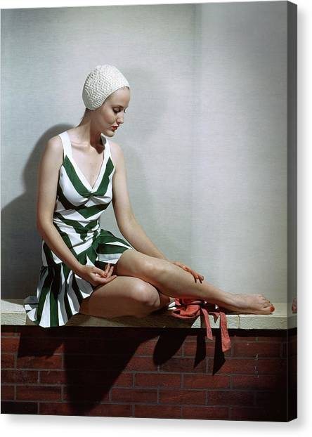 A Women In A Bathing Suit Canvas Print
