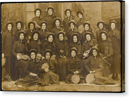 Salvation Army Canvas Print - A Women's Band, Mostly Armed by Mary Evans Picture Library