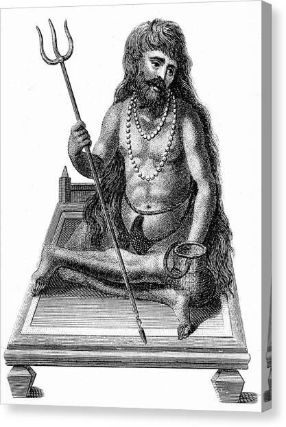 Yogi Canvas Print - A Yogi Meditating by Universal History Archive/uig