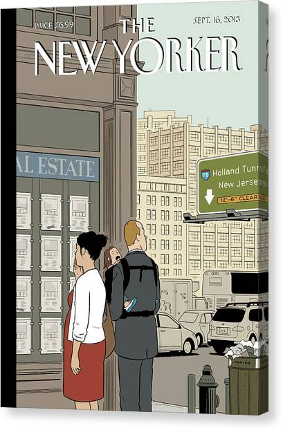 2013 Canvas Print - Crossroads by Adrian Tomine
