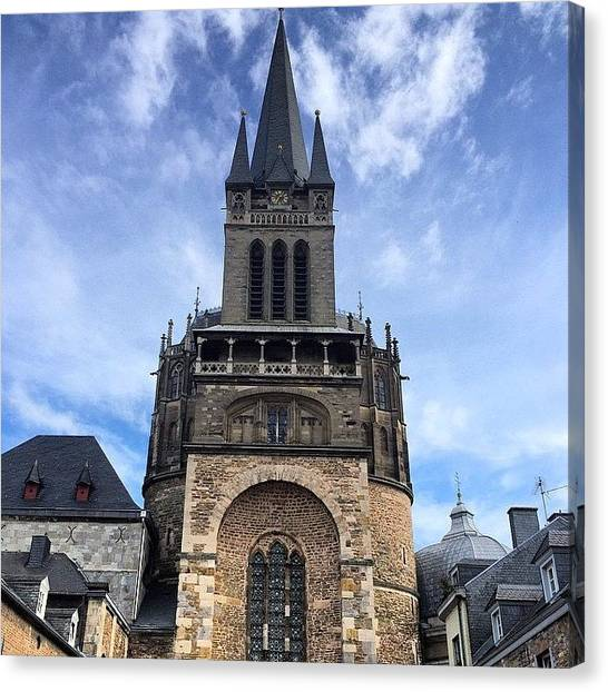 Japanese Canvas Print - #aachen #cathedral (#dom) In #germany by Ryoji Japan