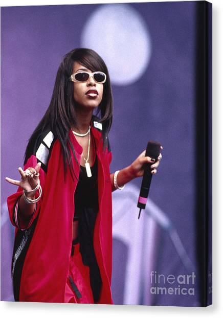 Chris Walter Canvas Print - Aaliyah 1997 by Chris Walter