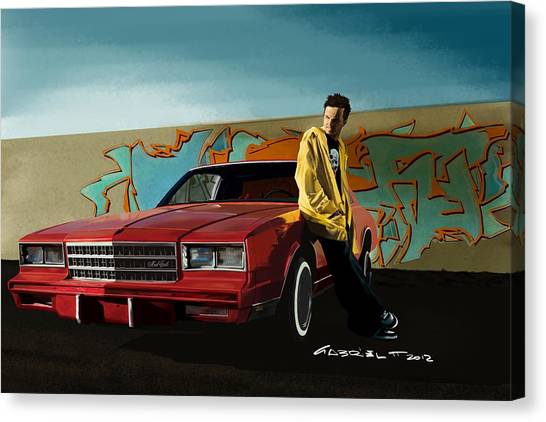 Aaron Paul As Jesse Pinkman @ Tv Serie Breaking Bad Canvas Print
