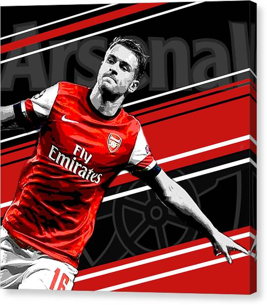Soccer Leagues Canvas Print - Aaron Ramsey Arsenal Print by Pro Prints