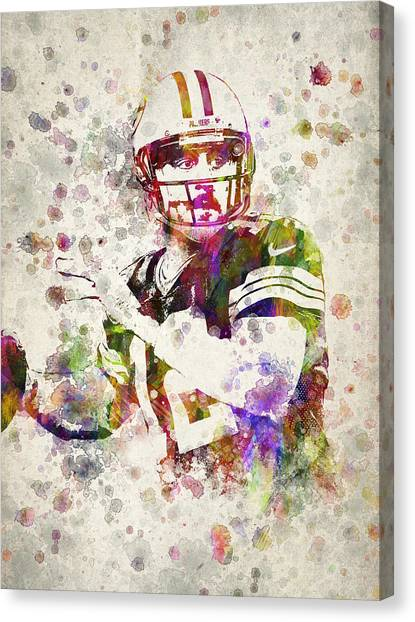 Aaron Rodgers Canvas Print - Aaron Rodgers by Aged Pixel