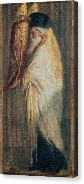 Old Testament Canvas Print - Aaron With The Scroll Of The Law, 1875 by Simeon Solomon