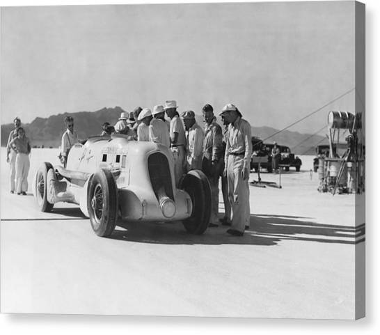 Racecar Drivers Canvas Print - Ab Jenkins Speed Record by Underwood Archives