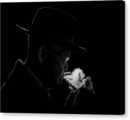Old Man Canvas Print - Abah by Andi Halil